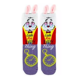 Disney Alice in Wonderland White Rabbit Socks